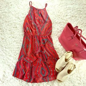 Dresses & Skirts - ADORABLE SPRING DRESS IN CORAL AND TURQUOISE